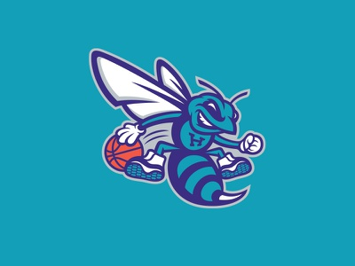 Charlotte Hornets charlotte hornets nba basketball rebrand logo redesign bee hornet buzz mascot stinger league honey honeycomb