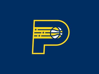 Indiana Pacers indiana nba rebrand basketball logo p monogram stars indianapolis sports branding pacers