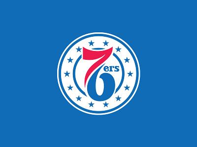 Philadelphia 76ers allen iverson script typography custom numbers type circle badge roundel basketball logo rebrand nba stars philadelphia philly phila 76ers 76 sixers