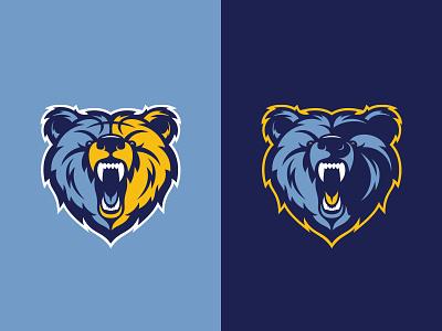 Memphis Grizzlies illustration animal roar fierce basketball mascot grizzly logo bear nba sports rebrand tennessee grizzlies memphis