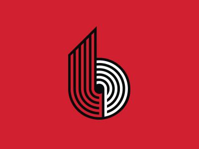Portland Trailblazers portland b icon branding sports basketball logo nba blazers trailblazers