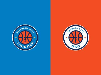Oklahoma City Thunder okc roundel lightning branding sports basketball logo nba oklahoma city thunder