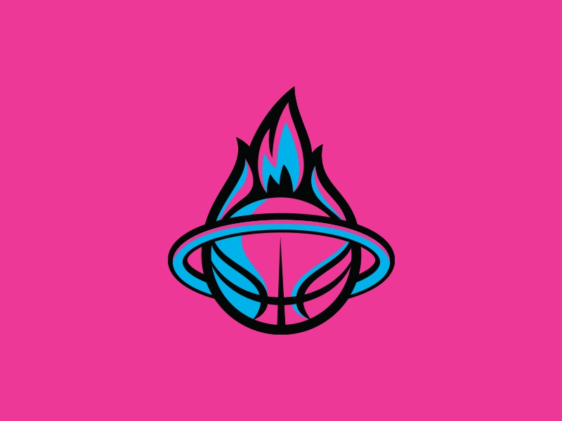 Miami Heat fire flame branding sports logo basketball nba miami vice heat miami