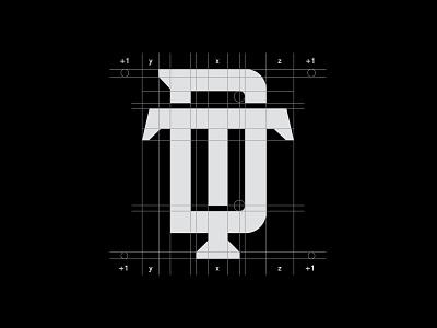 D + T Monogram grid letters type icon logo logodaily logoroom logoze designlogo logonew logomark graphicdesign dt monogram logogrid