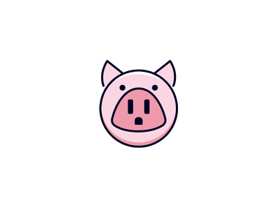 Pig + Outlet pignose pink nose poweroutlet electricity plug smart clever simple designlogo power piglet farmanimal farmhouse farm outlet pig