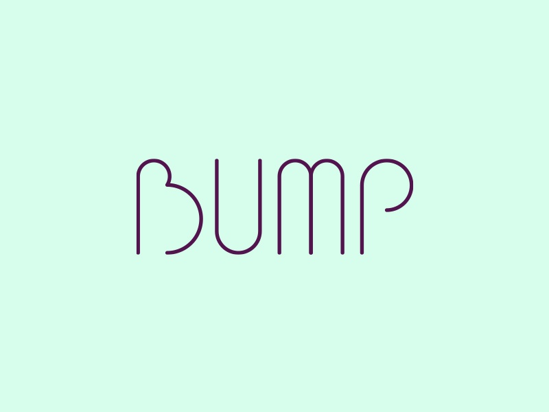 Bump pregnant pregnancy type simple logo letters logotype wordmark design branding mother baby bump