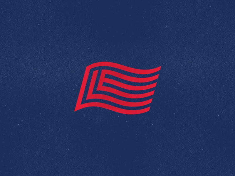 CLE Flag stripes pride wave icon typography letters flag design logo type monogram cavs indians browns theland ohio cleveland cle