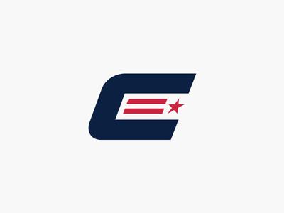 Washington Capitals rebrand team united patriotic usa america c logo sportslogos monograms logo monogram dc stripes stars hockey nhl capitals washington