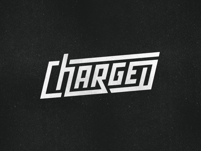 Charged connected plug surge thunder lightning vintage battery charger type customtype font logotype plugged wordmark charge energy charged