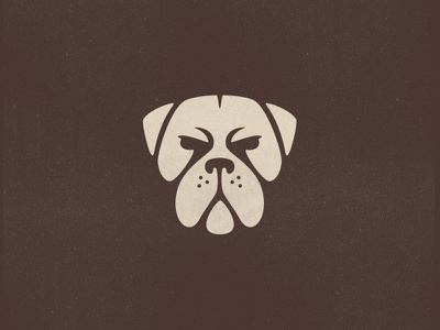 Dog heroic stoic bark growl expression puppy animallogo doglogo face logo negativespace bulldog mascot dogface animal dog