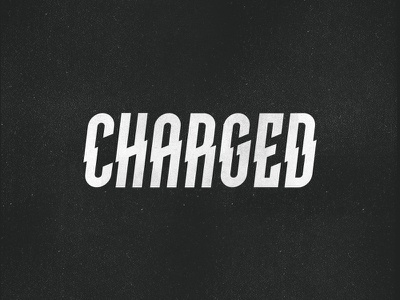 Charged wordmark vintage type thunder surge plugged e plug logotyp lightning font energy customtype connected charger charged charge battery