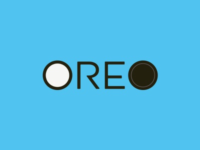 OREO frosting candy typography type chocolate icing letters logo logotype sweets treat milk wordmark cookies cookie oreo