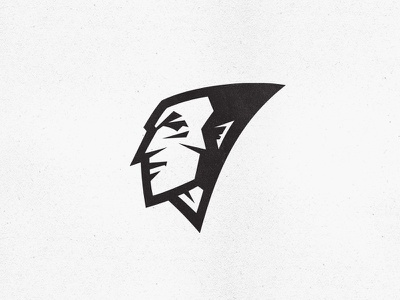 Face athlete player soldier warrior man aggressive intense fierce angry concept expression club sport team mascot sports logo face