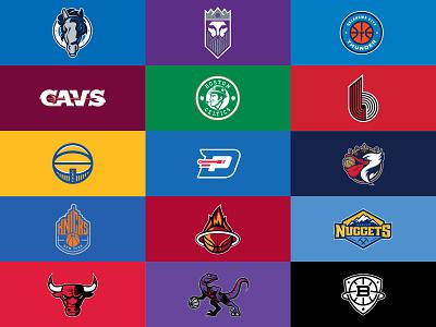 NBA Rebrand warriors trailblazers thunder sports rebrand raptors pistons pelicans nuggets nets nba mavericks league knicks kings heat celtics cavaliers bulls basketball