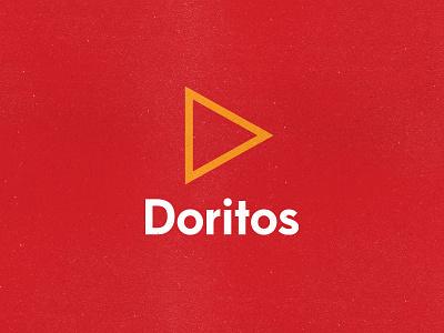Doritos minimal typeface fun negative space simple design branding geometric packaging logo rebrand cheese tortilla eat food triangle chips potato chips dorito doritos