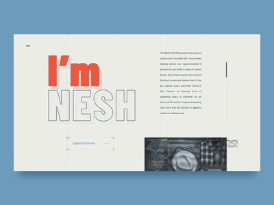 Personal blog composition whitespace grid layout home typography landing blog hero web ui clean simple brandnew