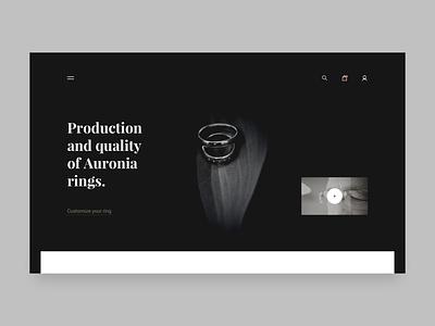Argented rings homepage ecommerce webdesign website webpage ui simple landing clean brandnew