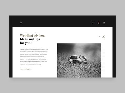 Argented rings ecommerce website webpage webdesign landing ui simple web clean brandnew