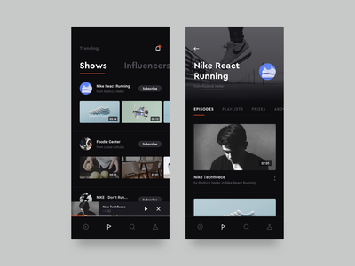 Show details ux ui video browsing concept youtube video ios interface show details dark app dark brandnew mobile application app
