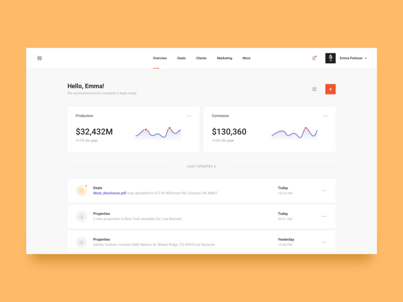 Dashboard for broker graphics data visulization analytics stats statistics brandnew simple web activity finance clean dash chart broker dashboard