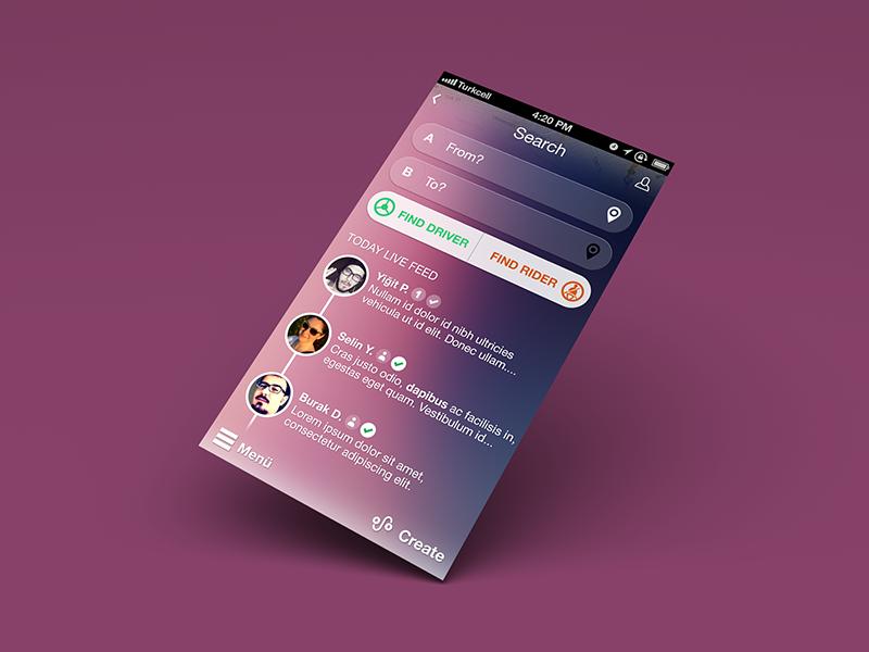 iPhone App Concept iphone mobile search app ui