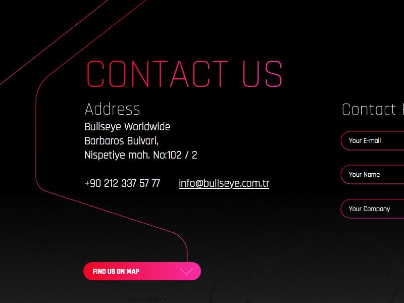 Bullseye Worldwide Web Site web ui website design