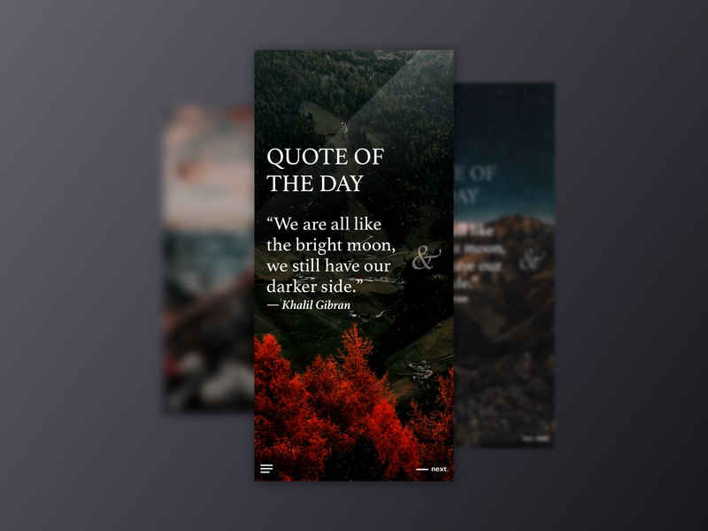 Quote Of The Day ui app mobile