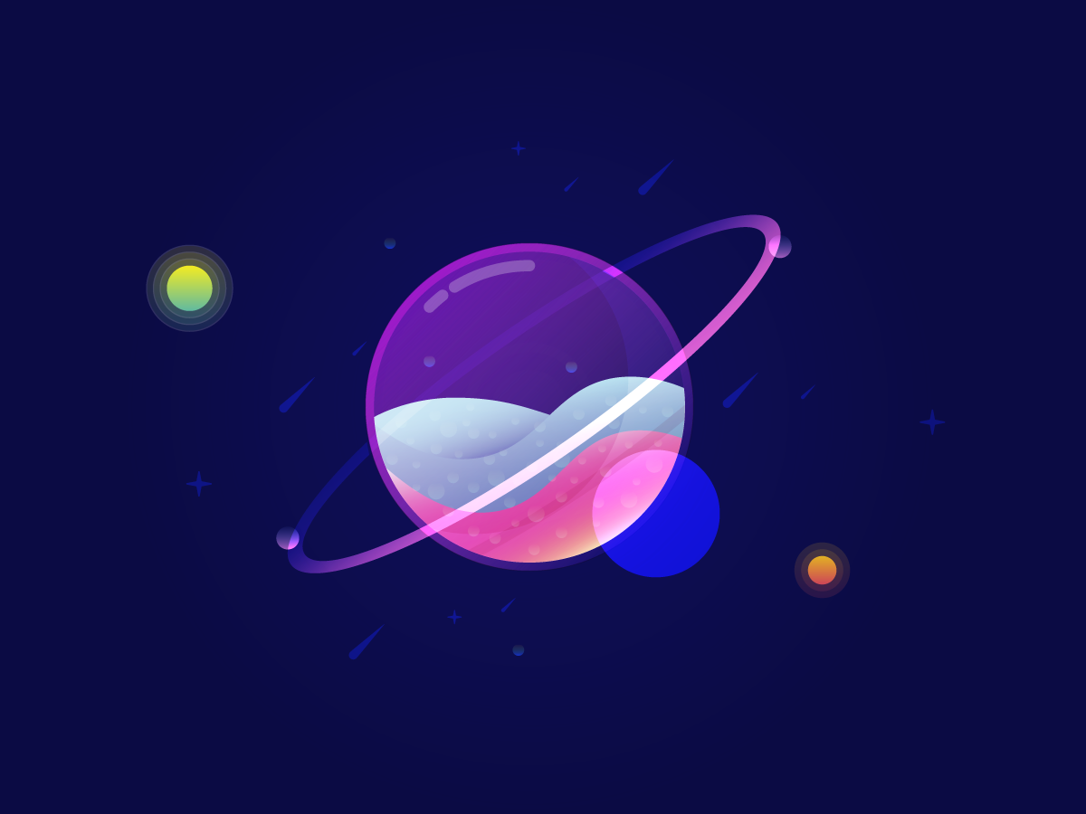 Sparkling Planet vector illustration