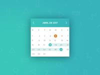 Dashboard Calendar
