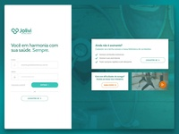 Login page for health dashboard