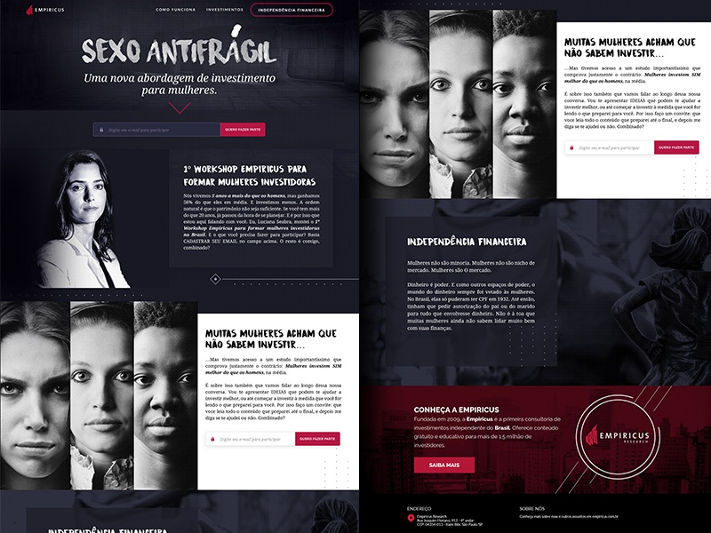 Landing Page: A new investment approach for women investment campaign investiment project investment for women women investment