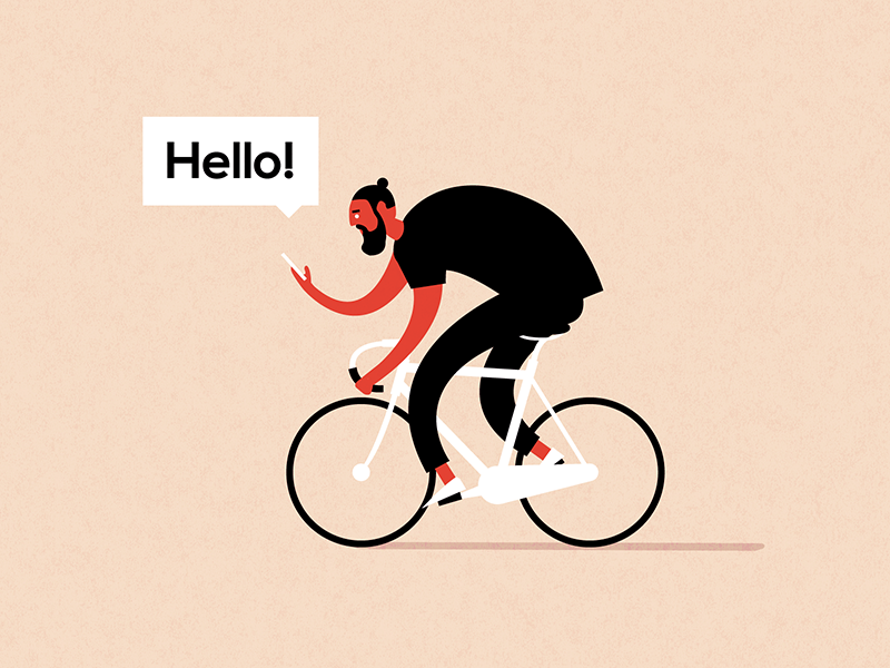 Hello Dribbble! phone bike debut