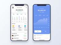 Currency Exchange App userinterface blue digital currency cryptocurrency mobile app minimal ios uiux ui bitcoin currency exchange apple