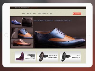 Shoe company landing page