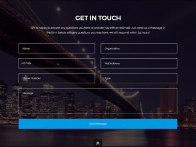 Get In Touch screen