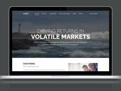 Landing page screen