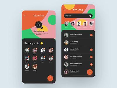 App animation messaging app message animation colorful design app design app