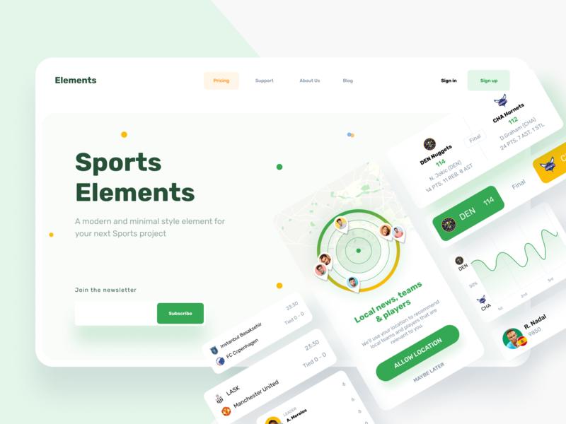 Sports Elements web design websites website web