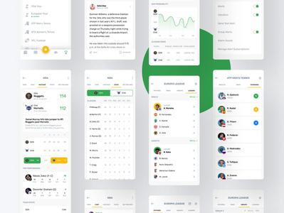 Sports App sports app sports score news events design cards app design app