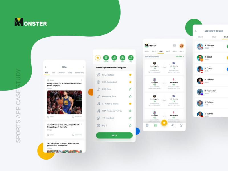 Sports App sports app sports score news events cards design app design app