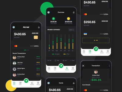Fix Pay Dark Mode App send money utility app money app payment app design design dark app payment app app