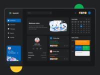 Management Dashboard web tasks project management progress profile pms hrms design dashboard design dashboad activity
