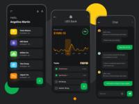 Projects Management App design tasks statistics project managment messaging chat app design app