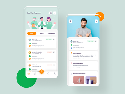 Doctor's App patient design app design app appointment doctor appointment treatment medical doctor doctor app