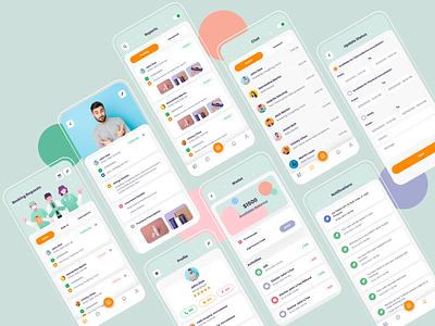 Doctor's App treatment patient medical doctor appointment doctor app doctor design appointment app design app