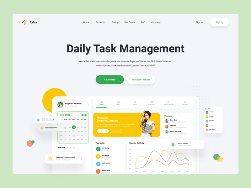Task Management Software webdesign web hrms task task manager website app task management app task management
