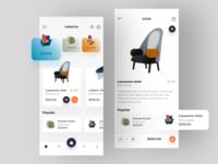 Furniture app shopping app shopping cart furniture furniture app ecommerce app ecommerce app designer app app design
