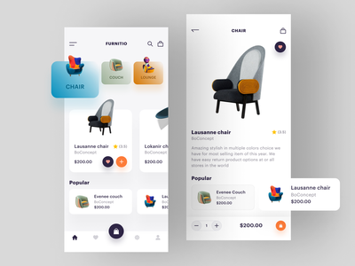 Furniture app shopping app shopping cart furniture furniture app ecommerce app ecommerce app designer app app design