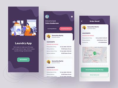 Laundry App design uidesign mobile app design mobile mobile app app design cleaning app cleaning clothing laundry app laundry app