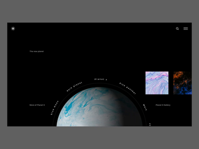 Planet X landing page globe animation websites web planet interaction landing page earth 3d globe planets animation
